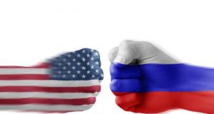 US and Russian fists
