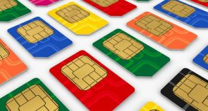 Sim cards of different colors
