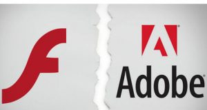 Broken Adobe Flash Logo