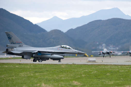 Fighter jet during Artic Challenge exercice