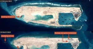 Artificial island built by China