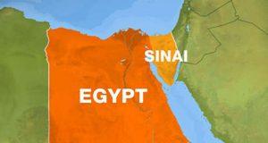 Map of Egypt focus on Sinai region
