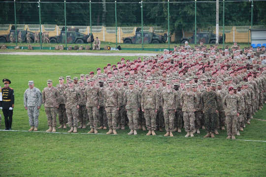 US Troops. Rapid Trident 2015 opening.