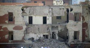 Italian Embassy in Cairo after blast