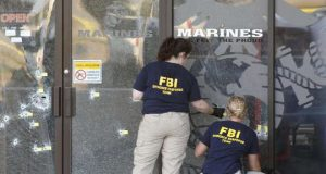 FBI Evidence Team At Shooting scene