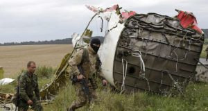 MH17 Wreckage. Russian Soldier.