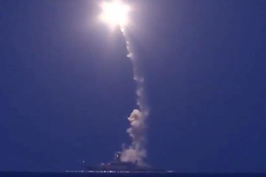 Russian Klub missile strike from caspian sea