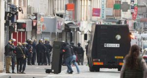 French police in Saint-Denis