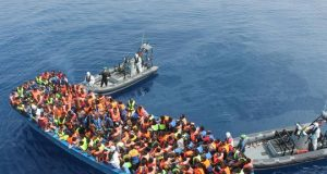 Migrants going to Europe by boat