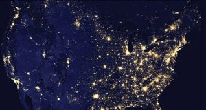 U.S. Cities lights by night