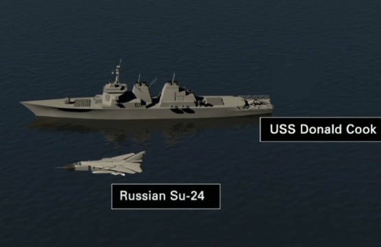 USS Donald Cook Su-24 illustration