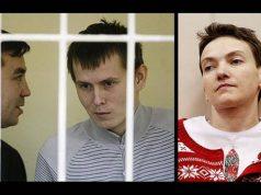 GRU captives and ukrainian pilot savtchenko