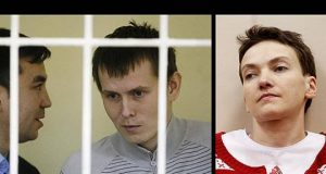 GRU captives and ukrainian pilot savtchenko