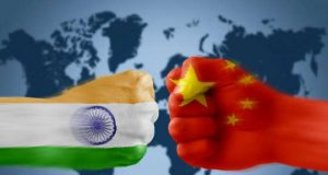 India and China bumping fists