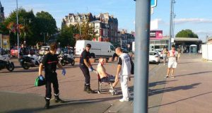 Wounded US Marine after Thalys terrorist attack