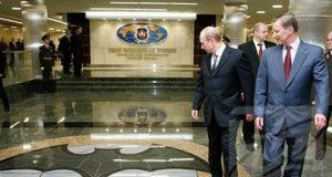 Putin visiting GRU HQ