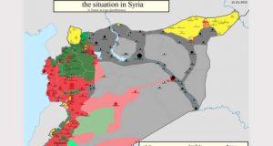 Syria war map 2015