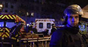Paramedics near the Bataclan theater.