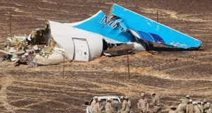 Russian plane wreckage in Egypt