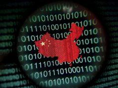 China -Matrix background