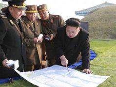 Kim Jong Un with North Korean generals
