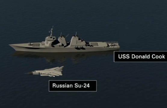 USS Donald Cook Su-24 illustration