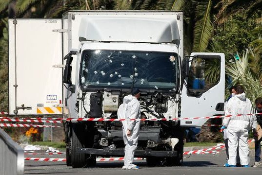 Truck used in Nice terrorist attack