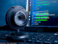 Webcam on a laptop